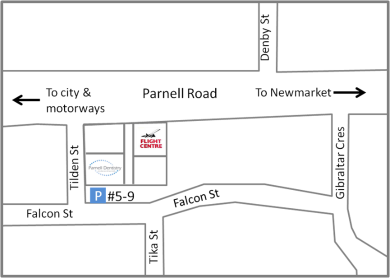 Parnell Dentistry parking map